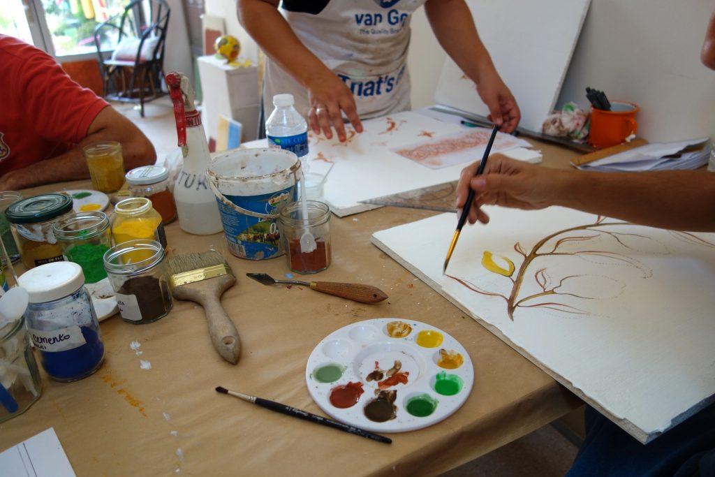 stage de peinture naturelle à la chaux