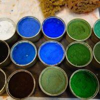 www.marievanesse.com Atelier des Pigments peintures naturelles et décoratives, restauration du patrimoine peinture murale, artisanat d'art La Barbe Bleue