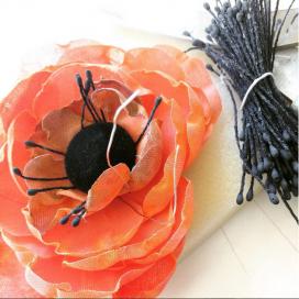 millinery flower silk fleur en soie artificielle art botanique fleuriste