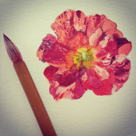 fleur flower aquarelle botanical pinceau brush