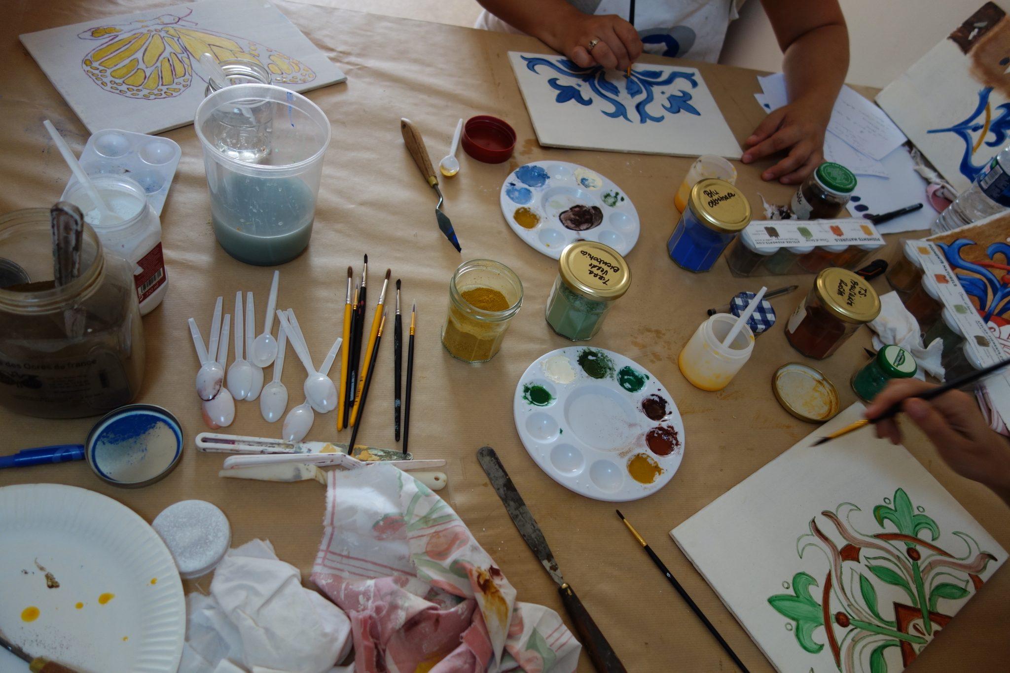 STAGE à BRUXELLES : Peinture naturelleà l'ancienne